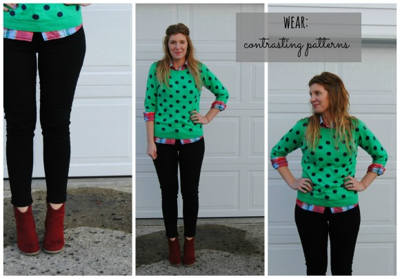 Old Navy polka dot sweater collage
