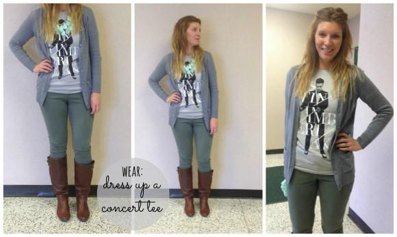 concert t-shirt justin timberlake collage