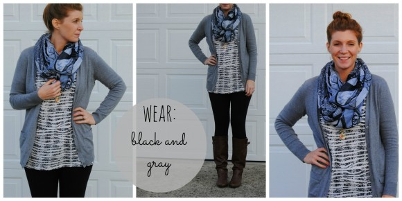 gray and black outfit collage