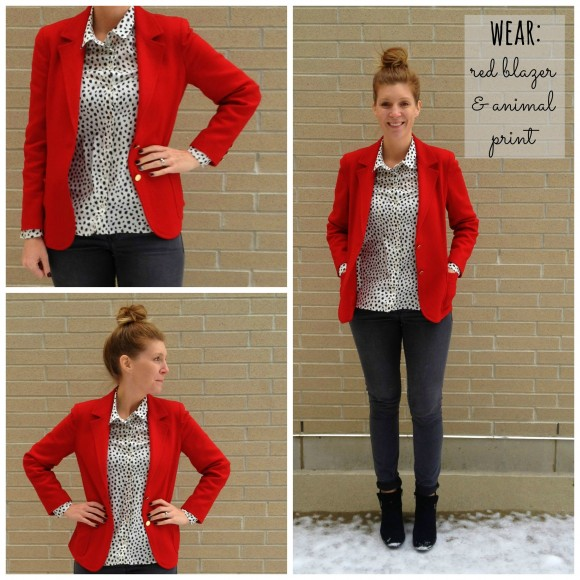 red blazer collage