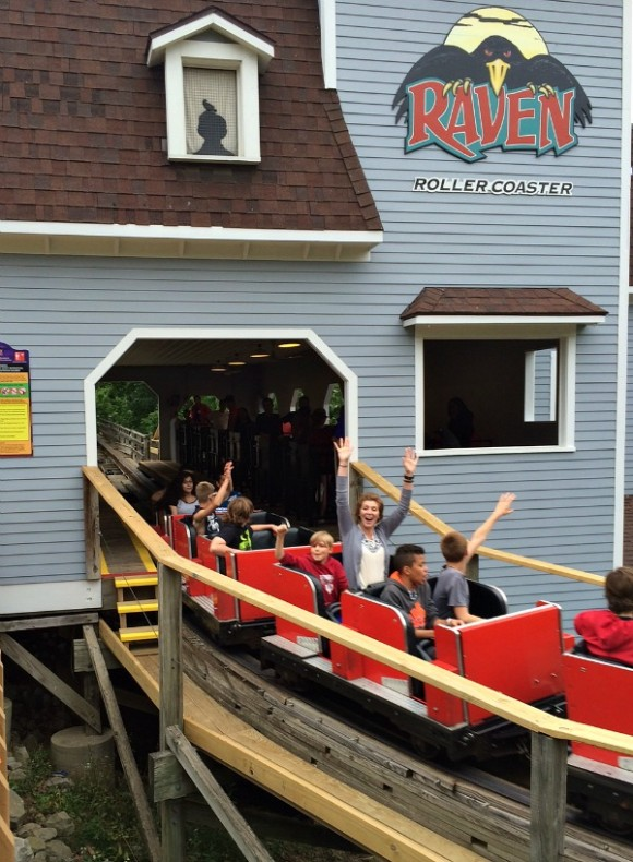 Holiday World Raven roller coaster