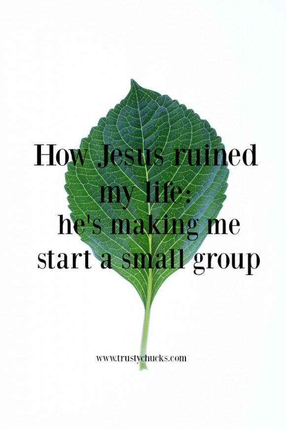 how Jesus ruined my life he's making me start a small group