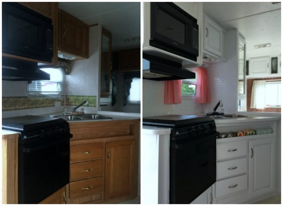 camper remodel pics together