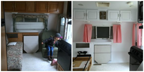 camper remodel pictures together