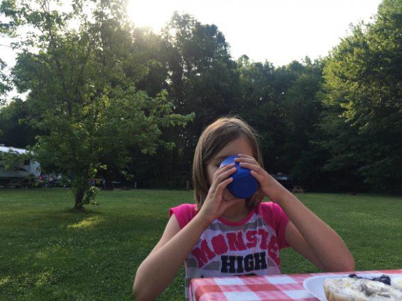 drink milk camping