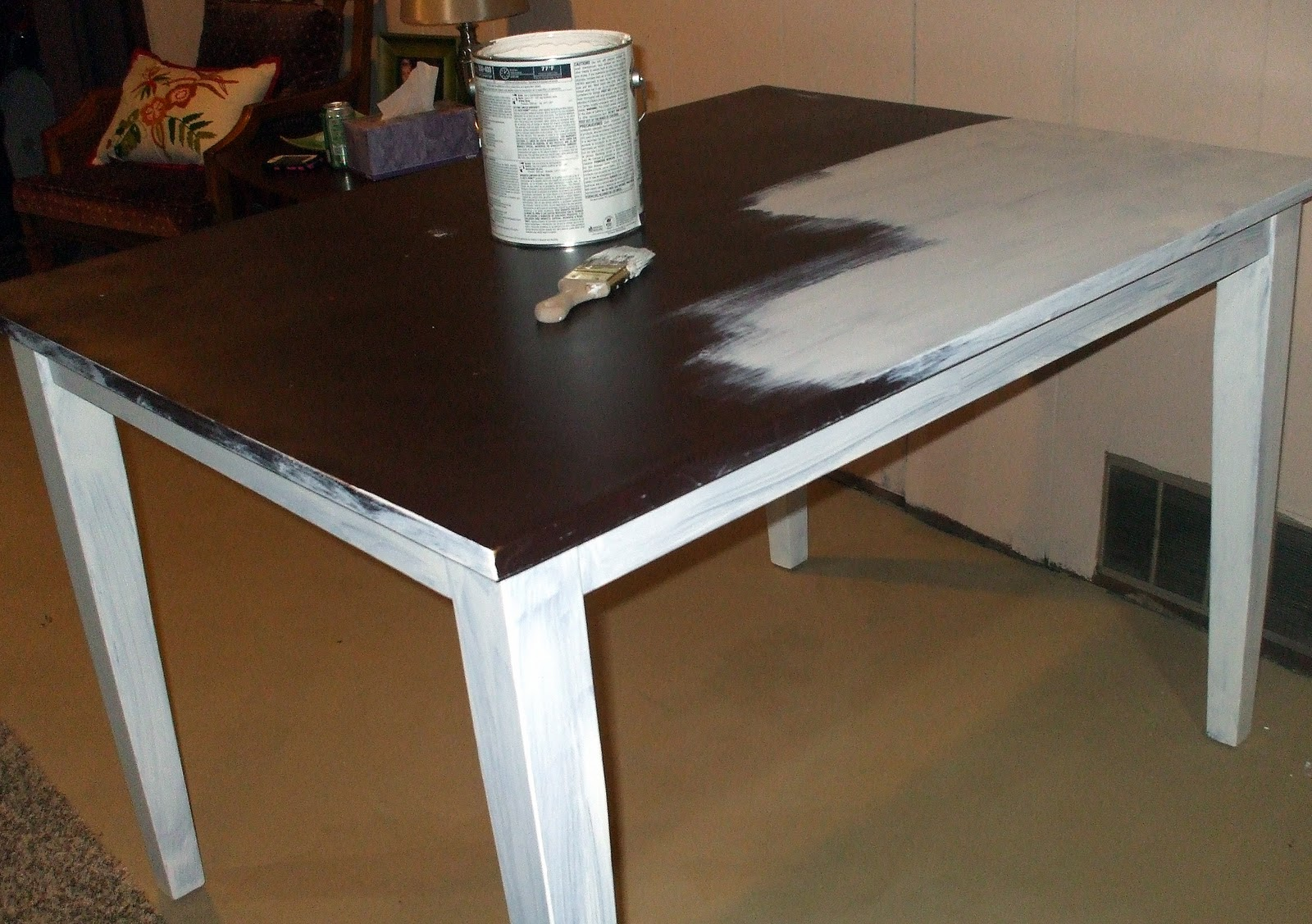 Painted Kitchen Table A Table Story