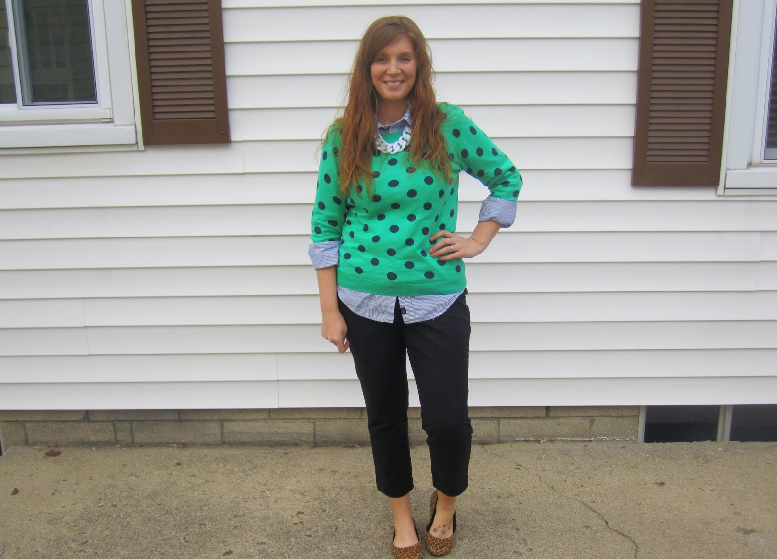 pigeon toed polka dots being grouchy